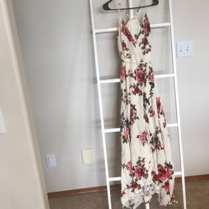 Vici collection maxi wrap dress size small